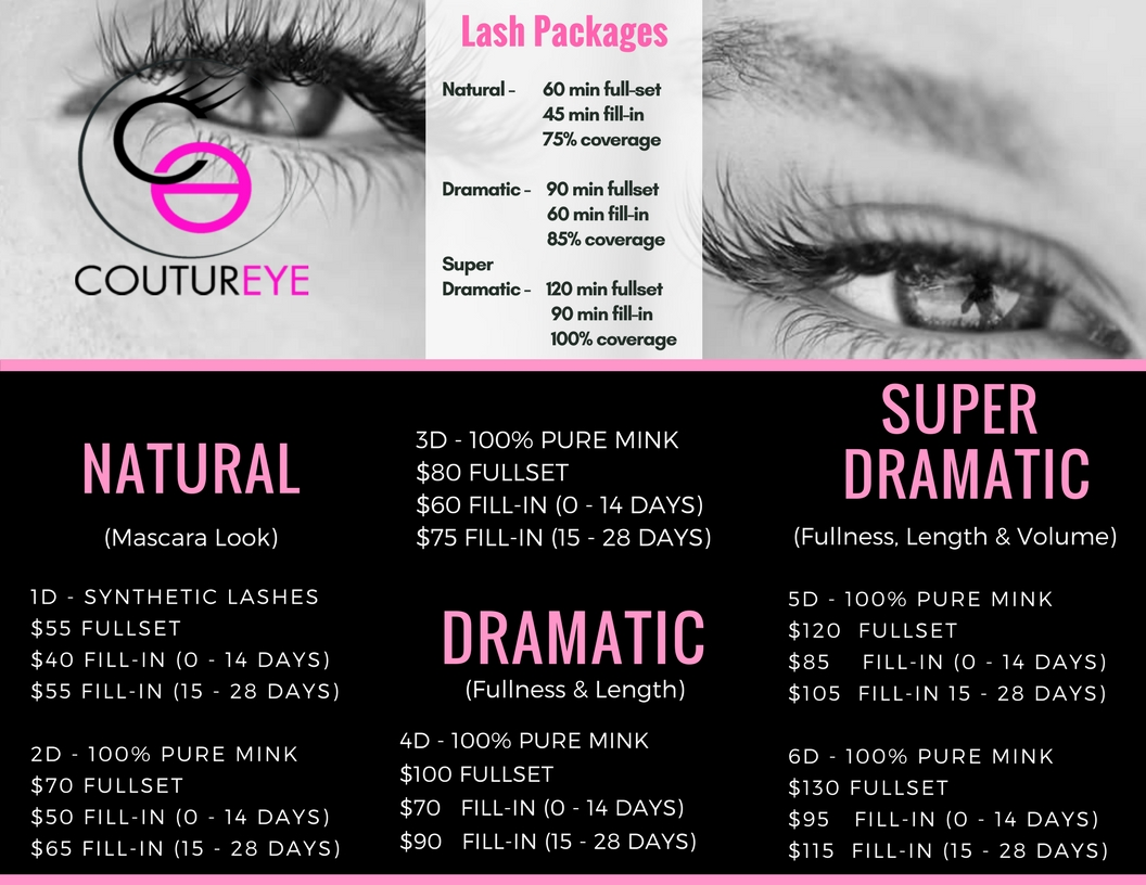 Eyelash Extensions Coutureye Eyelash Extension Studio